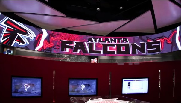NanoLumens e ICG pantalla LED curva Atlanta Falcons