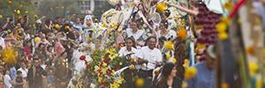 Work Pro y Work Lifters proporcionan la acústica en la Batalla de las Flores de Valencia
