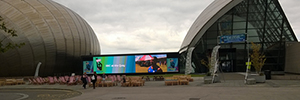 Wavetec diseña un videowall LED de 55 metros cuadrados para el Glasgow Science Center
