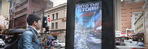 A virtual Tornado devastates the streets of Sydney to promote the latest film by Steve Quale
