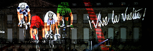 Santiago de Compostela celebrates the end of the Vuelta Ciclista a Spain 2014 with a spectacle of videomapping