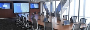 Arthur Holm personalized with Dynamic2 the conference room of the mining BHP Billiton