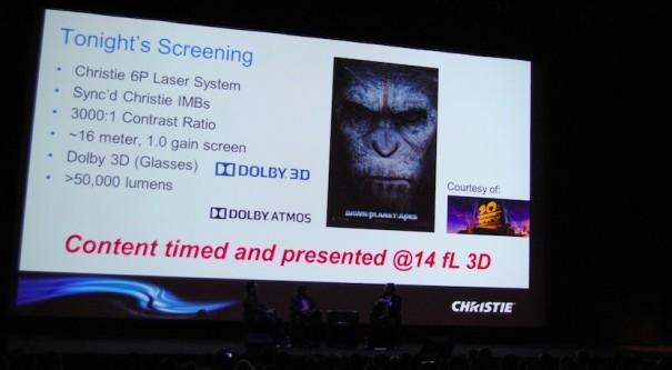 Christie proyeccion 6P 3D IBC 2014