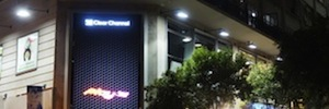 Clear Channel launches its interactive LED display on the market Fuencarral Madrid