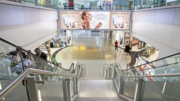 Couture Portals Heathrow T2 JCdecaux