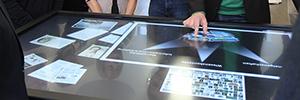 El Leibniz Knowledge Media Research Center muestra sus desarrollos de investigación desde una pantalla multitactil de Eyevis