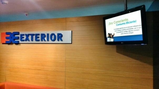 Banco exterior de venezuela commitment to digital signage for Banco exterior venezuela