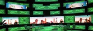 Pantallas LED curvas de Led&Go en los platós de televisión de BeIN Sport
