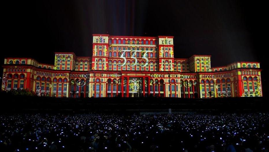 Bucarest apuesta por la videoproyecci n 3d en la fachada for Streaming parlamento