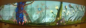 Un videowall de 137 metros cuadrados fomenta la imaginación de los niños en el hospital duPont de Wilmington