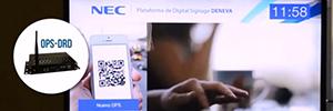 Deneva.cuatro y el Reproductor OPS de NEC forman una completa plataforma de digital signage
