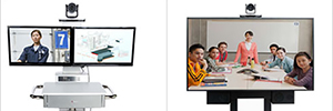 Polycom RealPresence EduCart 500 and Utility Cart 500, videoconferencing for educational and business environment