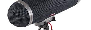Rycote The Cyclone, sistema anti-viento con aislamiento del ruido para micrófonos de cañón