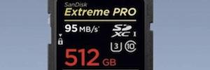 SanDisk UHS-I: 512 GB de almacenamiento de vídeo en formato 4K para profesionales AV