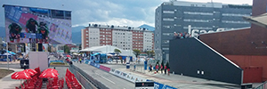 Tres60 provides the audiovisual equipment to the world of cycling Ponferrada 2014