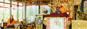 El Dalai Lama utiliza los micrófonos de DPA para dirigirse a sus seguidores en las celebraciones budistas