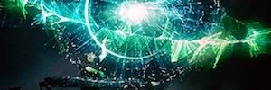 La pantalla Holo-Gauze crea el mayor holograma 3D flotante del mundo para el espectáculo del DJ Eric Prydz