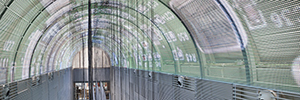 A large domed LED display greets guests at the NH Eurobuilding Collection