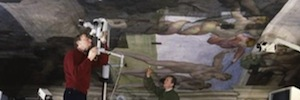 The Sistine Chapel visually retrieves the frescoes of Miguel Ángel with LED lighting technology
