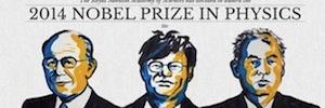 """Los inventores de la luz azul LED, Premio Nobel de Física 2014, por ser """"una nueva fuente de luz para iluminar el mundo"""""""