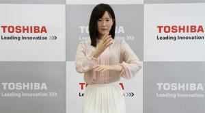 Toshiba robot social