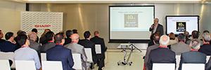 Sharp reúne en Valencia a sus partners para mostrar sus últimas pantallas profesionales