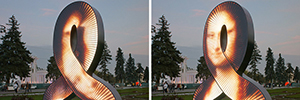 Aristarkh Chernyshev fusiona la tecnología LED con animaciones 3D en su escultura Userpic, una oda al arte clásico