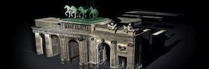 A spectacular videomapping transforms the Puerta de Alcalá in the 25 th anniversary of the fall of the Berlin wall