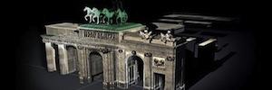 Un espectacular videomapping transforma la Puerta de Alcalá en el 25º aniversario de la caída del Muro de Berlín