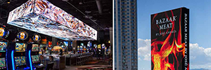 The SLS Las Vegas resort offers a new visual concept with Daktronics technology