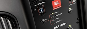 JBL Professional EON600: portable PA enclosures with sound studio monitor