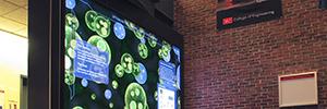 Un videowall interactivo fomenta el carácter interdisciplinario de la Universidad de Ingeniería de Boston
