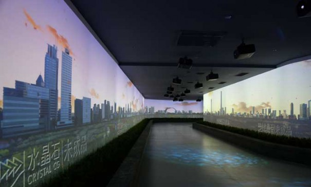 Digital Projection en museo Huai an
