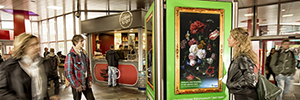 Las obras pictóricas del Rijksmuseum cobran vida en el metro de Holanda gracias al digital signage