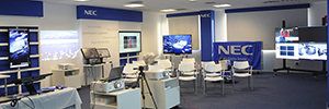 NEC Display opens a Demo room and technology add value to customers and partners