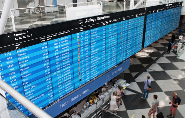 Videowall NEC Matrox Aeropuerto Munich