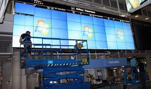 VideoWall NEC Matrox aeroporto Munique