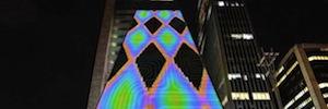 Yucef Merhi transforma el sonido en patrones geométricos dinámicos en la instalación interactiva 'C-240'