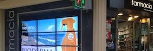 I3V fomenta la comunicación digital de las farmacias con un videowall en el centro de Bilbao