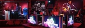 The'King of rock' stars in a spectacular display in Las Vegas with Sony's AV technology