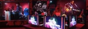 El 'rey del rock' protagoniza una espectacular exhibición en Las Vegas con la tecnología AV de Sony