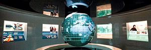 Our Dynamic Earth museum trust Electrosonic for AV solutions exposure Scotland's Time Lords