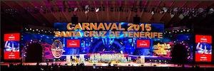 El Carnaval de Tenerife 2015 envuelve a los espectadores con una gran pantalla Led curva
