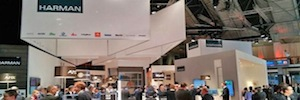 ISE 2015: the new JBL - Intellivox acoustic columns take their own space in the booth Harman