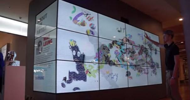 Kinect Graffiti en store Samsung Melbourne