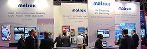 Matrox display at ISE its graphics and video solutions to configure and manage videowalls