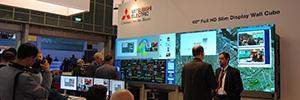 Mitsubishi está mostrando en ISE los cubos LCD DLP 120 Serie para salas de control y aplicaciones AV