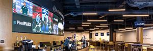 PixelFlex instala un videowall Led convexo de 2 mm en el club VIP del Bridgestone Arena