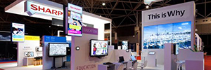 Sharp, along with its partners, held in ISE interactive demos of their display solutions