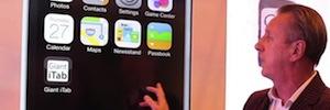 Touch2View despliega sus pantallas táctiles Gigant iTab por el recinto de ISE 2015